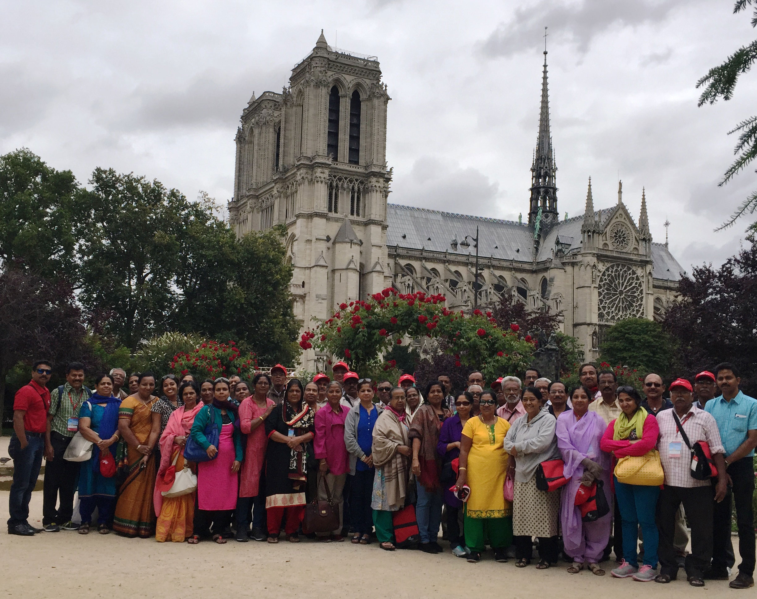 Visiteurs Indiens à Paris