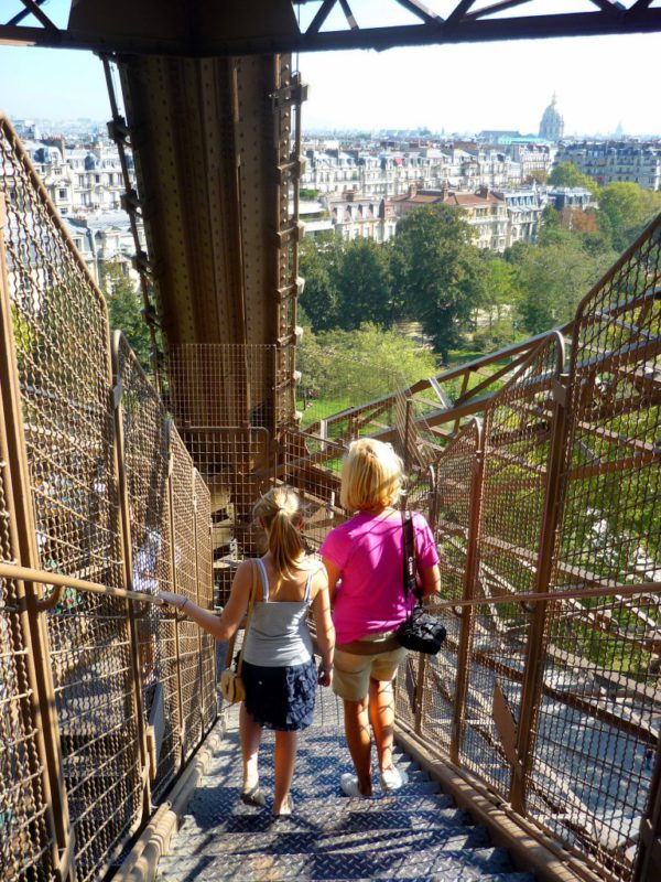 Eiffel Tower stairs
